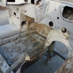 E Type Body Shell After Paint Removal
