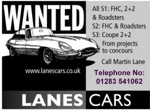 Lanes Cars E Type Wanted