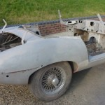 E Type Roadster - After being bead blasted
