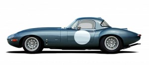 Lanes Cars Jaguar E Type Aluminium Lightweight Recreation - Opalescent Blue