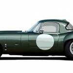 Lanes Cars Jaguar E Type Aluminium Lightweight Recreation - Opalescent Dark Green