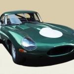 Lanes Cars Jaguar E Type Aluminium Lightweight Recreation - Opalescent Green