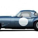 Lanes Cars Jaguar E Type Aluminium Lightweight Recreation - Opalescent Blue